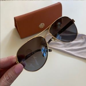 Tory Burch Accessories - Tory Burch Gold/Grey Polarized Sunglasses TY6010